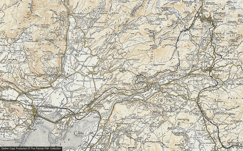 Old Map of Rhyd, 1903 in 1903
