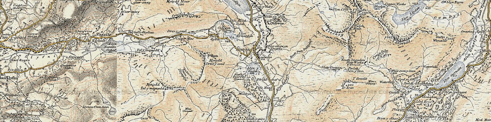 Old map of Y Garn in 1903