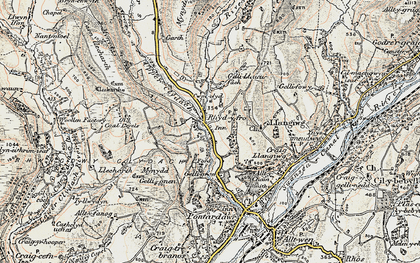 Old map of Rhyd-y-fro in 1900-1901