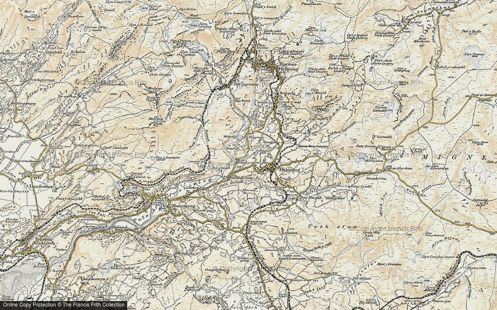 Old Map of Historic Map covering Afon Goedol in 1903