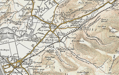 Old map of Ysguboriau in 1902-1903