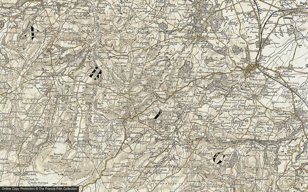 Old Map of Historic Map covering Fron in 1902-1903