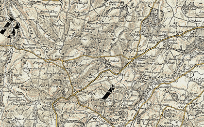 Old map of Fron in 1902-1903