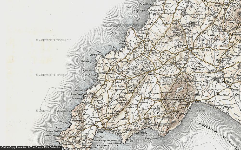 Old Map of Historic Map covering Tirtopyn in 1903