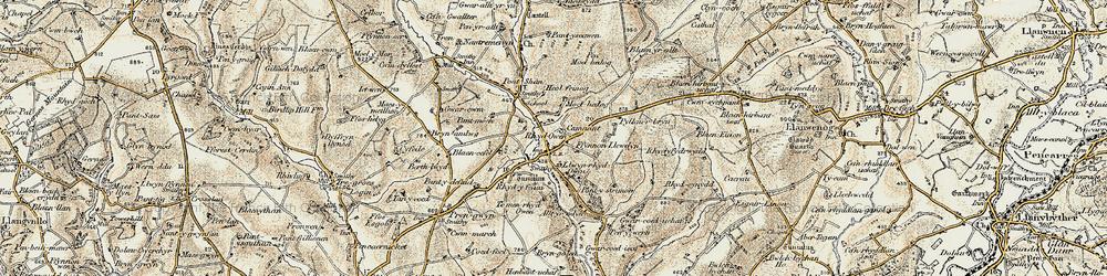 Old map of Alltyrodyn in 1901