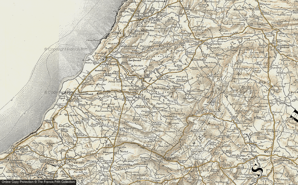 Old Map of Historic Map covering Talwrn Hogfaen in 1901-1903