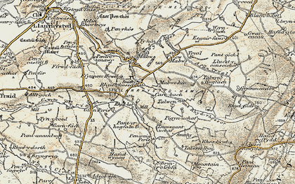 Old map of Wyre Fach in 1901-1903