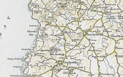 Old map of Rhydwyn in 1903-1910
