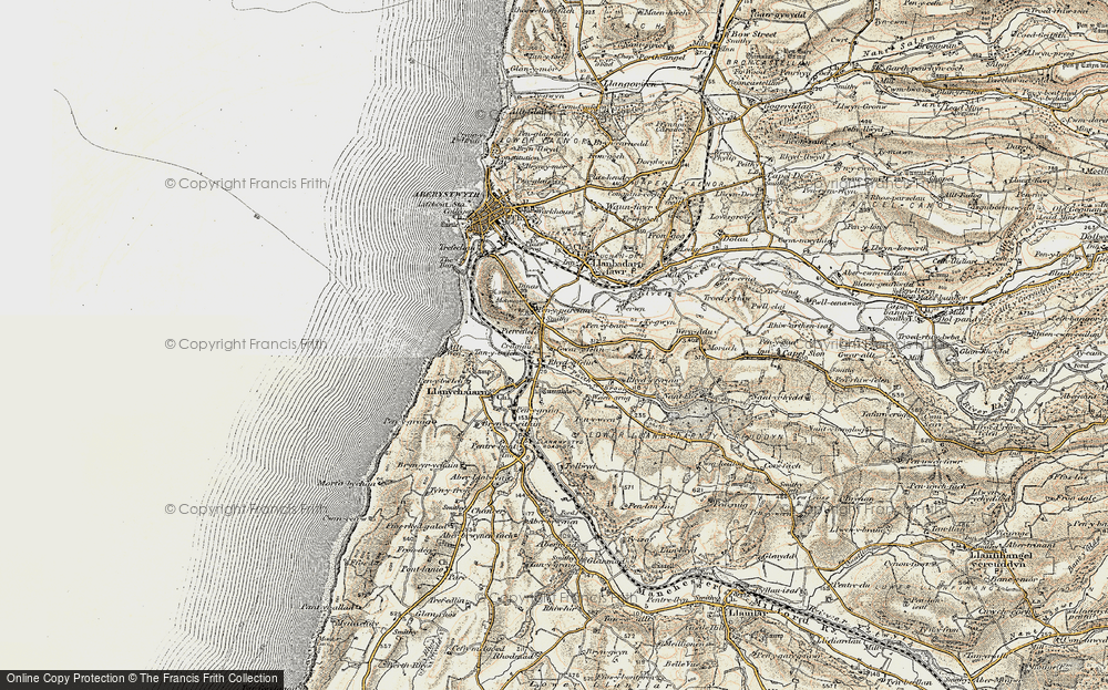 Old Map of Historic Map covering Bâch-y-rhew in 1901-1903