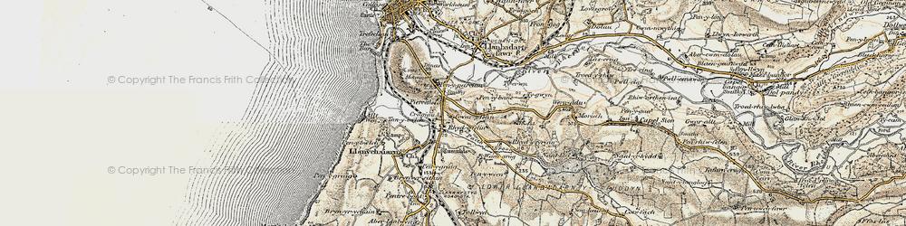Old map of Rhydyfelin in 1901-1903
