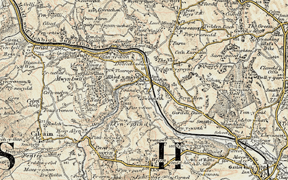 Old map of Rhydymwyn in 1902-1903