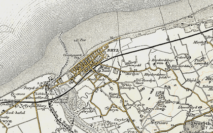 Old map of Rhyl in 1902-1903