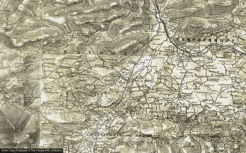 Old Map of Historic Map covering Tonburn in 1908-1910
