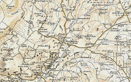 Old map of Ribble Valley in 1903-1904