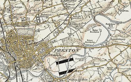 Old map of Ribbleton in 1903