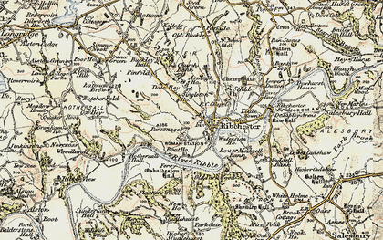Old map of Leece's Wood in 1903-1904