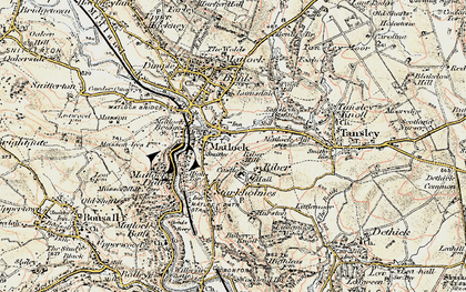 Old map of Riber in 1902-1903