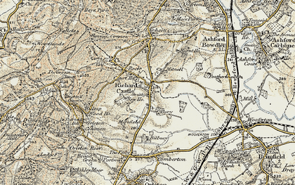 Old map of Richards Castle in 1901-1902