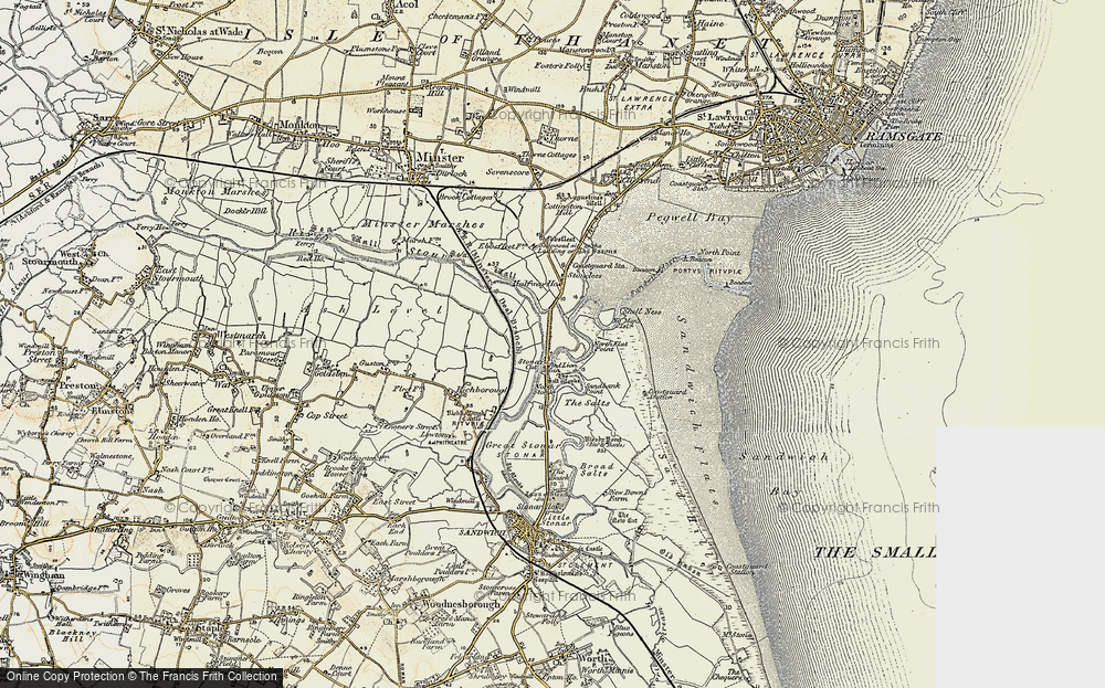 Old Map of Historic Map covering Back Sand Point in 1898-1899