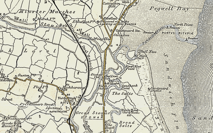 Old map of Back Sand Point in 1898-1899
