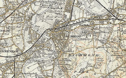 Old map of Richmond in 1897-1909