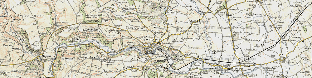 Old map of Richmond in 1903-1904
