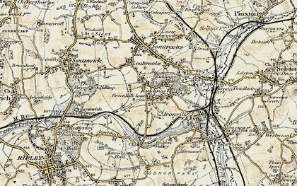 Old map of Riddings in 1902