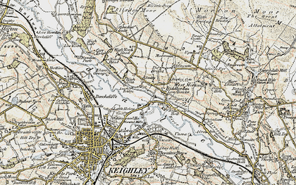 Old map of Leache's Br in 1903-1904