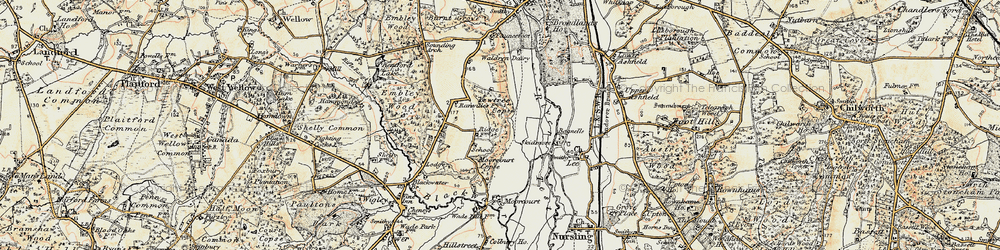 Old map of Yewtree Copse in 1897-1909