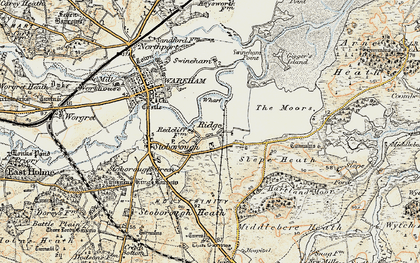 Old map of Ridge in 1899-1909
