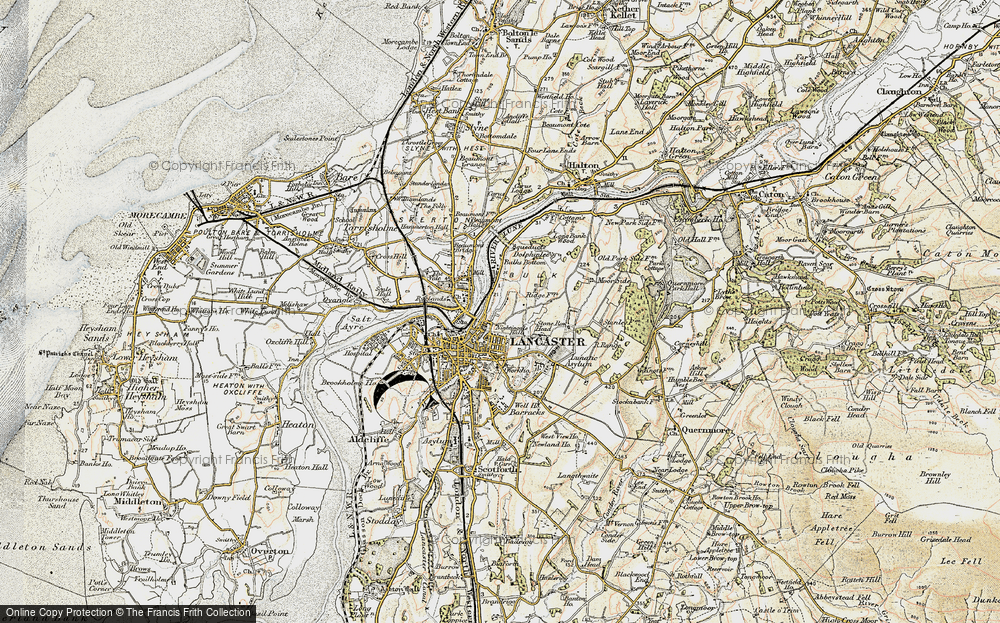 Old Map of Historic Map covering Ashton Meml in 1903-1904