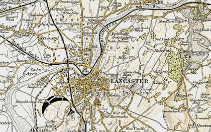 Old map of Ashton Meml in 1903-1904