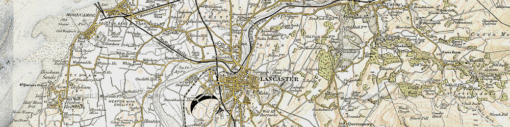 Old map of Williamson Park in 1903-1904