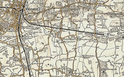 Old map of Ridge Green in 1898-1902