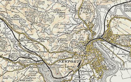 Old map of Ridgeway in 1899-1900