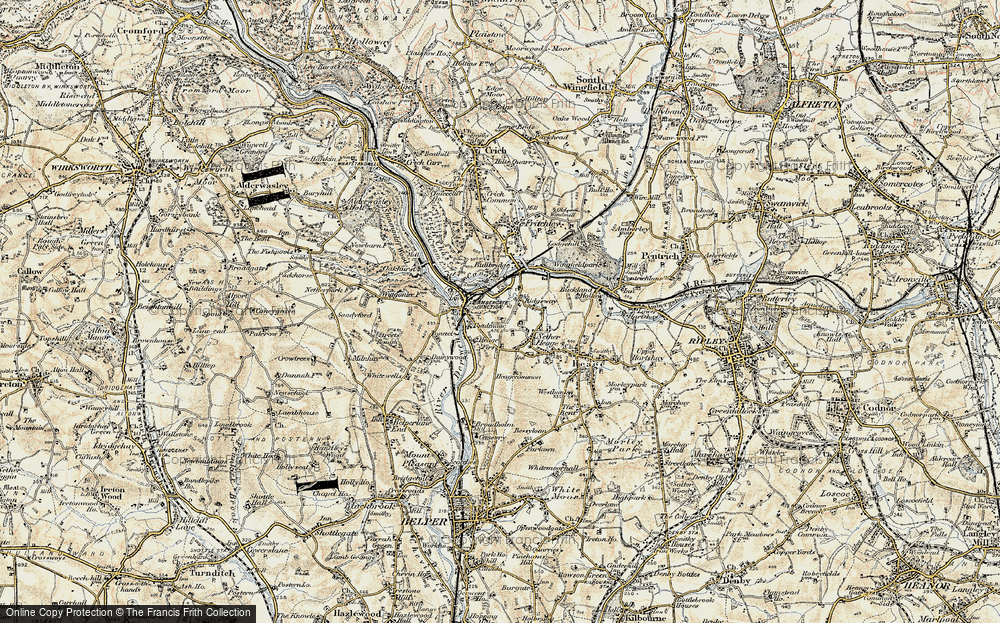 Old Map of Historic Map covering Ambergate in 1902