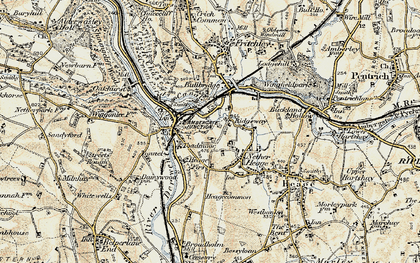 Old map of Ambergate in 1902