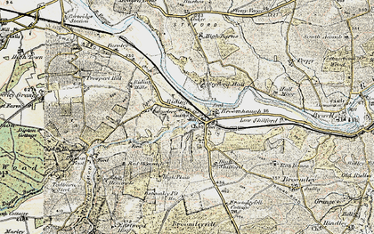 Old map of Riding Mill in 1901-1904