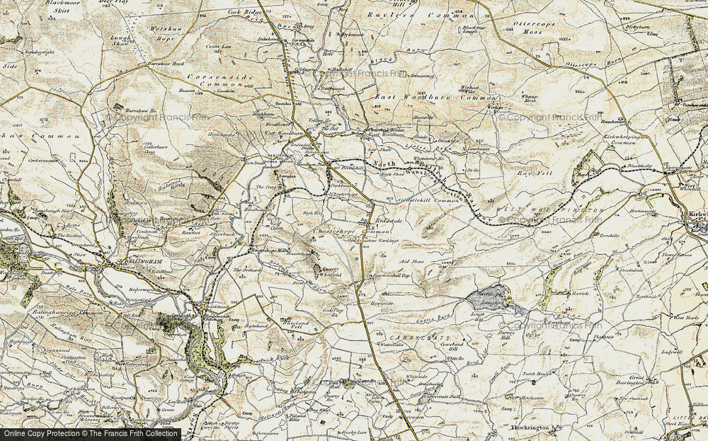 Old Map of Historic Map covering Aid Moss in 1901-1903