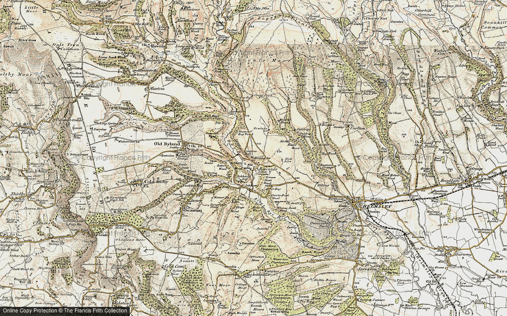 Old Map of Historic Map covering Ashberry Wood in 1903-1904