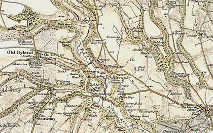 Old map of Ashberry Wood in 1903-1904