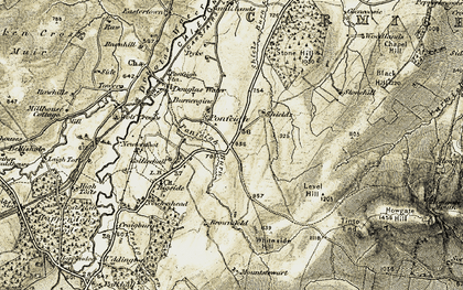 Old map of Tinto End in 1904-1905