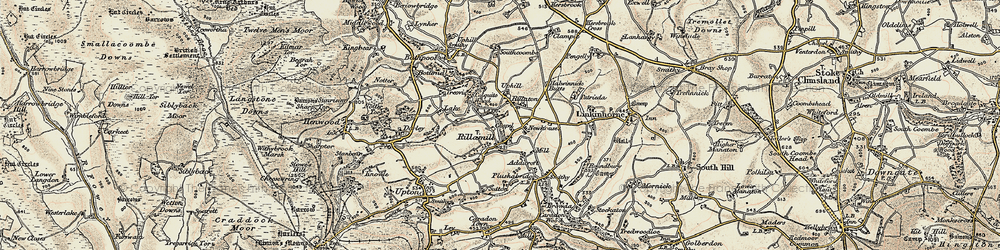 Old map of Rilla Mill in 1900