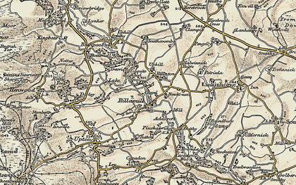 Old map of Rillaton in 1900