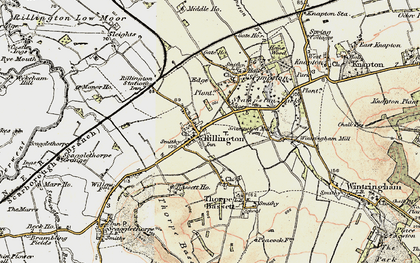 Old map of Rillington in 1903-1904