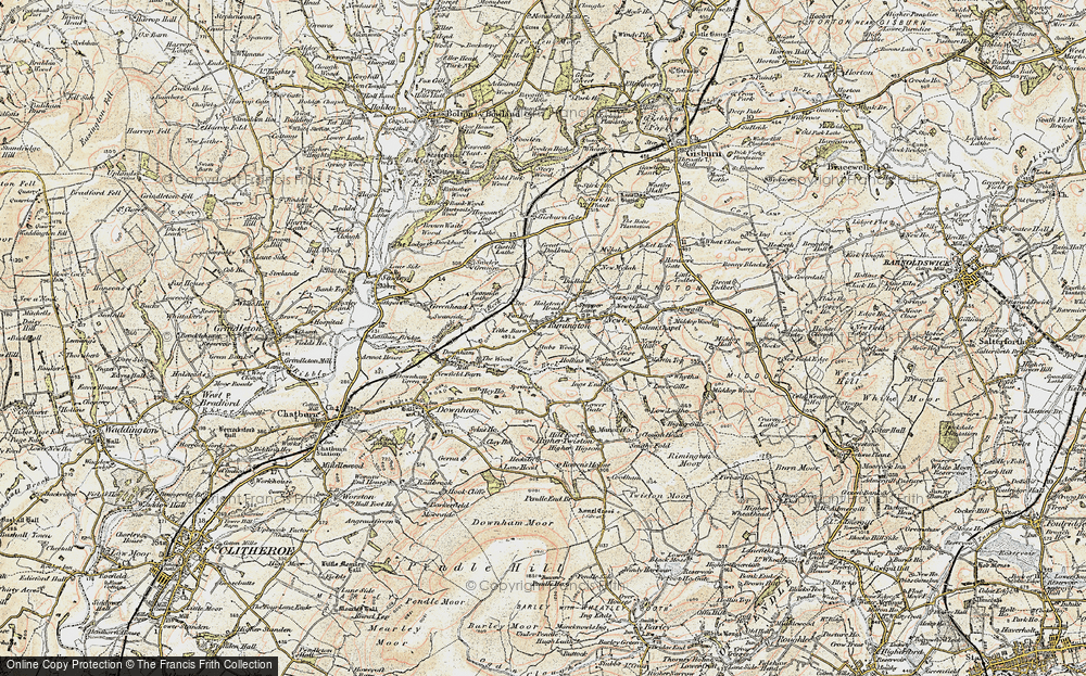 Old Map of Historic Map covering Wood, The in 1903-1904