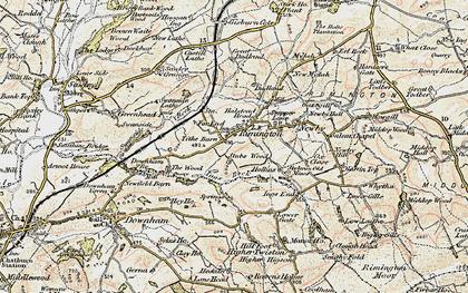 Old map of Rimington in 1903-1904