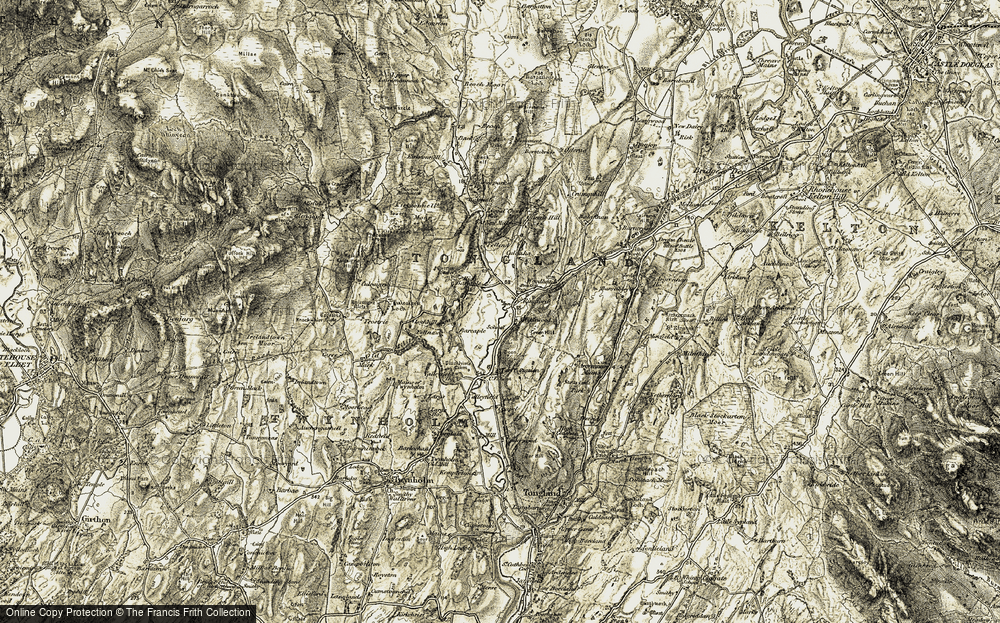 Old Map of Historic Map covering Backfell in 1905