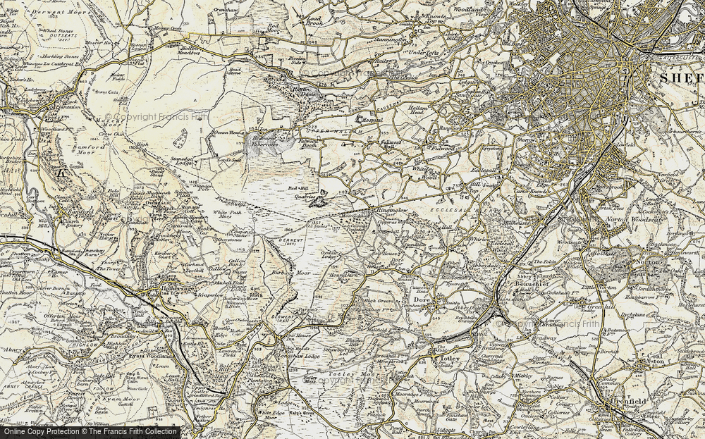 Old Map of Historic Map covering Whitelow in 1902-1903