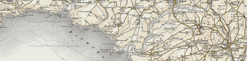 Old map of Toby's Point in 1899-1900